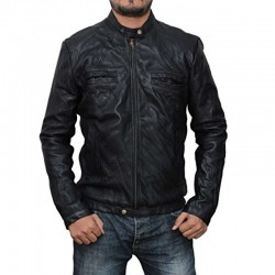 17 Again Zac Efron Black Leather Jacket |Black Wrinkle Men's Real Leather Jacket