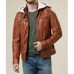 The Butler Whiskey Brown Leather Jacket |Brown Leather Jacket For Men