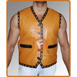 The Warriors James Remar (Ajax) Leather Vest | The Warriors Movie Leather Vest Costume