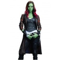 Gamora Leather Coat Guardians Of The Galaxy Vol 2 | Leather Coat For Women's