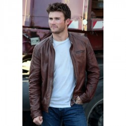 Scott Eastwood Fast 8 Brown Leather Jacket | Mens Brown Leather Jacket