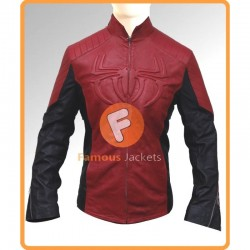 Spiderman Peter Parker Red Cosplay Costume Jacket | Mens Leather Jackets