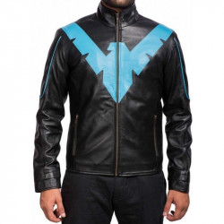 Nightwing Dick Grayson Men's Black Leather Jacket | Leather Jacket For Men's