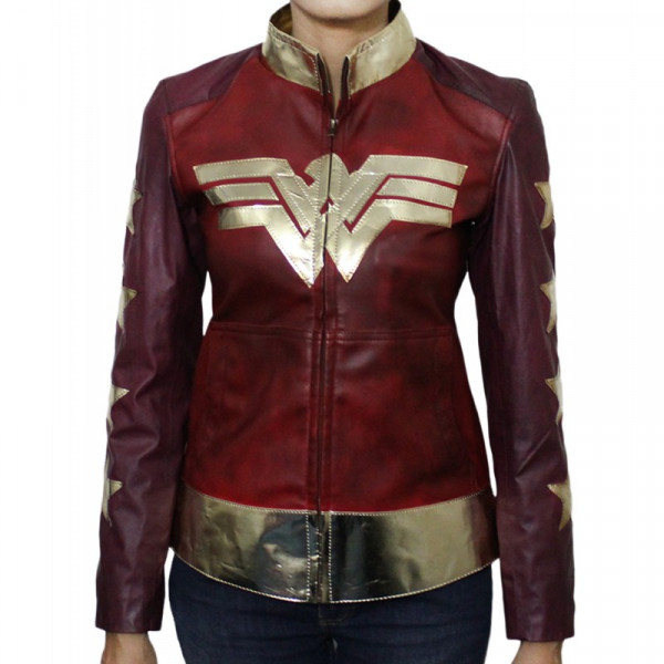 Wonder Woman Costume Women's Leather Jacket | Leather Jacket For Women's