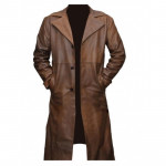 Batman vs Superman Tan Jacket Trench Coat | Leather Long Trench Coat