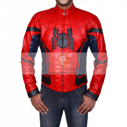 Spider Man Homecoming Peter Parker (Tom Holland) Real Leather Jacket | Best Men's Leather Jacket
