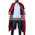 Star Lord Chris Pratt Guardians Of The Galaxy Real Leather Coat Volume 1 | Men's Long Leather Coat