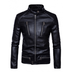 Mens Multi-Pocket Motorcycle Leather Jacket | Best Biker Jacket