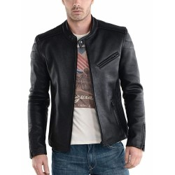 Classic Casual Delphi Leather Jacket |Black Leather Jacket For Men