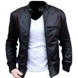 Alpha Mens Leather Motorcycle Jacket | Black Leather Jacket