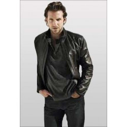 Limitless Bradley Cooper Black Jacket | Black Leather Jacket Mens