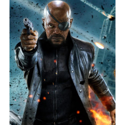 Nick Fury The Avengers Leather Coat | Long Leather Jacket For Men's