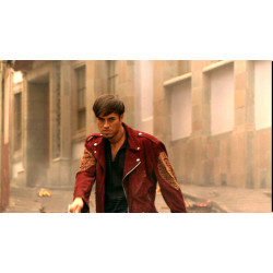 Once Upon A Time In Mexico Enrique Iglesias (Lorenzo) Jacket | Mens Red Leather Jacket