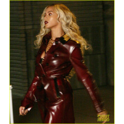 Beyonce Red Leather coat For Sale | Womens Leather Coat