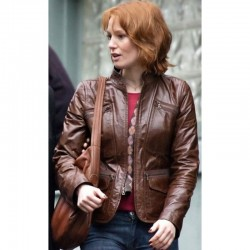 88 Minutes: Alicia Witt Leather Jacket | Brown Leather Jacket