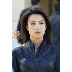 Agents of S.H.I.E.L.D. Melinda May Black Leather Jacket | TV Star Leather Jacket Womens