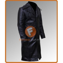Al Pacino (Carlito Brigante) Carlito's Way Black Leather Trench Coat | Movie Jackets UK