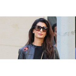 Amal Clooney (Tala Alamuddin) Lawyer Jacket | Black Leather Jacket For Women