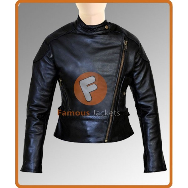 Angelina Jolie Wanted Black Leather Jacket | Women Jacket Sale UK
