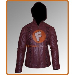 Arrow Season 3 Colton Haynes Hooded Jacket | Mens Leather Jackets