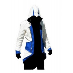 Assassins Creed III Connor Kenway Blue / White Cotton Jacket Costume | Mens Jackets Sale