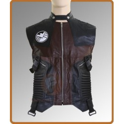 The Avengers Hawkeye Jeremy Renner Vest | Black Leather Vest