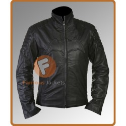 Batman Begins Black Biker Jacket | Superhero Leather Jackets