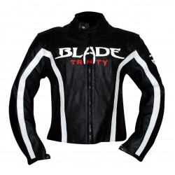 Blade Trinity Black Motorcycle Leather Jacket | Black Biker Leather Jacket Sale