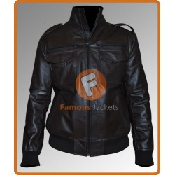 Brooklyn Nine Nine Andy Samberg Leather Jacket | Mens Black Leather Jacket