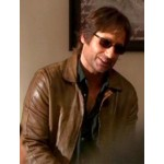 Californication Hank Moody Brown Leather Jacket | Celebrities Wearing Brown Leather Jacket