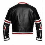 Chaser Box Black/White Jacket For Men | Leather & Black Biker Jackets