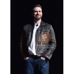 Chris Evan Captain America Civil War Movie Leather Jacket | Men's Leather Jacket Uk