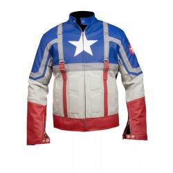 Chris The Avengers Evans Captain America 2012 Leather Jacket | Avengers Leather Costume Sale