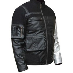 Civil War Captain America Bucky Barnes Winter Soldier Black Leather Jacket | Movie Leather Jacket