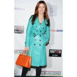 Dana Delany Stylish Double Breasted Trench Leather Coat  For Womens