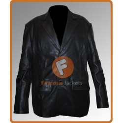 Dark Blue Kurt Russell Leather Jacket | Leather Jacket For Men's