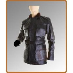 Dark Knight (Tom Hardy) Rises Bane Black Jacket | Mens Black Leather Jacket