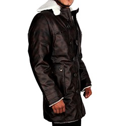 Dark Knight Rises Bane (Faux Fur) Coat | Tom Hardy Leather Coat