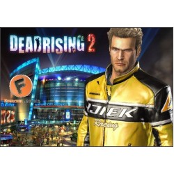 Dead Rising 2 Chuck Greene Cosplay Costumes | Men's Leather Jacket
