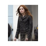 Doctor Who Amy Pond Black Leather Jacket | Womens Leather Jacket