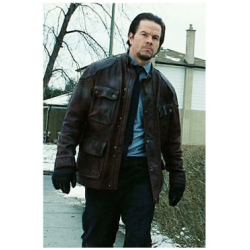 Four Brothers Mark Wahlberg Distressed Brown Leather Jacket | Brown Leather Jackets