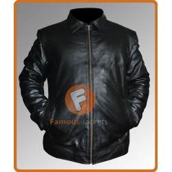 Faster Dwayne Johnson (Driver) Black Jacket | Black Leather Jacket Mens