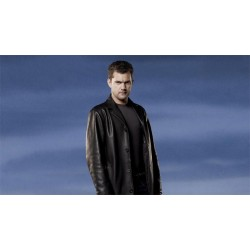 Fringe Joshua Jackson (Peter Bishop) Black Jacket | Leather Jacket Mens