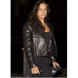 Furious 7 Michelle Rodriguez Leather Jacket | Celebrity Leather Jacket For Women's