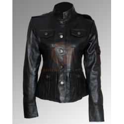 Get Smart Anne Hathaway Black Jacket | Womens Leather Jacket
