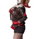 Harley Quinn Bombshell Joker Fur Collar Bomber Leather Jacket | Women's Bomber Jackets