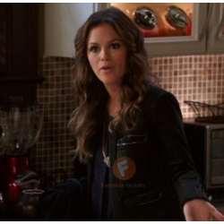 Hart of Dixie Rachel Bilson Black Jacket |Black Leather Jacket For Women