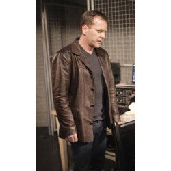 Jack Bauer 24 Series Brown Jacket |Mens Brown Leather Jacket