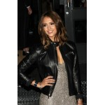 Jessica Alba Black Style Black Leather Jacket | Womens Leather Jacket
