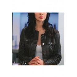 Johnny English Natalie Imbruglia Jacket | Black Leather Jacket For Women